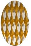 rug #586873 | oval light-orange popular rug
