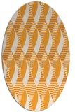rug #586881   oval light-orange circles rug