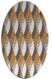 rug #586885 | oval light-orange graphic rug