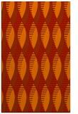 rug #587133 |  orange retro rug