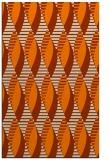 rug #587205 |  orange retro rug