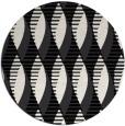 rug #587245 | round black retro rug