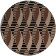 rug #587257 | round black graphic rug