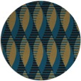 rug #587261 | round brown retro rug