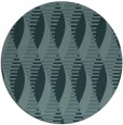 rug #587313 | round blue-green graphic rug