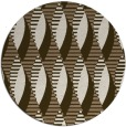 rug #587393 | round mid-brown retro rug