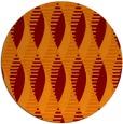 rug #587429 | round red-orange graphic rug