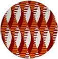 rug #587433 | round orange rug