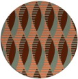 rug #587441 | round red-orange circles rug