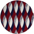 rug #587481 | round red graphic rug