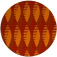 rug #587485 | round red graphic rug