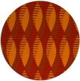 rug #587485 | round orange retro rug