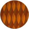 rug #587497 | round red-orange retro rug