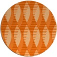 rug #587501 | round red-orange graphic rug