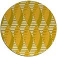 rug #587529 | round yellow retro rug