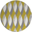 rug #587541 | round yellow circles rug