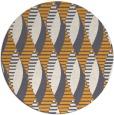 rug #587589 | round light-orange retro rug