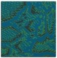 rug #588025   square blue-green animal rug
