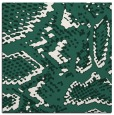 rug #588077 | square blue-green animal rug
