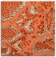 rug #588141 | square orange animal rug