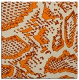rug #588261 | square orange animal rug