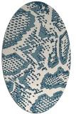 rug #588321 | oval white animal rug