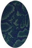 rug #588329 | oval blue animal rug