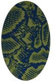 rug #588333 | oval blue animal rug