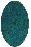 rug #588377 | oval blue animal rug