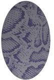 rug #588385   oval blue-violet animal rug