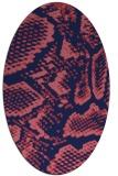 rug #588389 | oval blue-violet animal rug