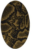 rug #588413 | oval mid-brown rug