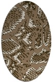 rug #588449 | oval beige animal rug