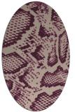 rug #588453 | oval pink animal rug