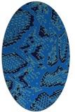 rug #588465 | oval blue animal rug