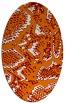 rug #588489 | oval orange rug