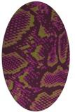 rug #588525   oval green animal rug