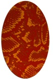rug #588541 | oval red animal rug