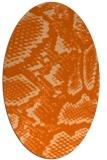 rug #588557 | oval red-orange animal rug