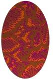 rug #588561 | oval red-orange animal rug