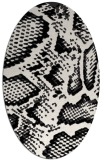 rug #588569 | oval white rug
