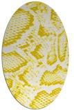 rug #588573 | oval white animal rug