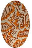 rug #588613 | oval beige animal rug