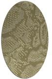 rug #588621 | oval light-green animal rug