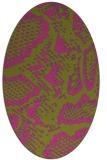 rug #588625 | oval pink rug