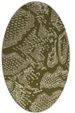 rug #588629 | oval light-green animal rug
