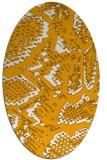 rug #588633 | oval light-orange animal rug