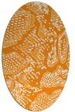 rug #588641 | oval light-orange animal rug