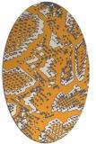 rug #588645 | oval light-orange animal rug