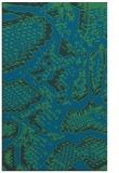 rug #588729    blue animal rug